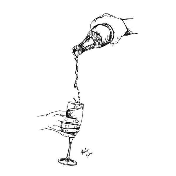 Pouring champagne - PRINT