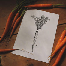 Load image into Gallery viewer, Carrot vegetable - PRINT