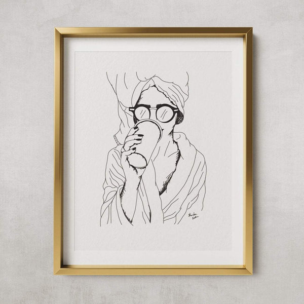 Coffee girl - PRINT