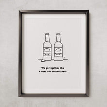 Load image into Gallery viewer, Brewski couple - A3 PRINT