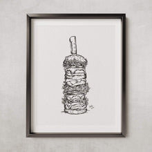 Load image into Gallery viewer, The ultimate works burger - PRINT