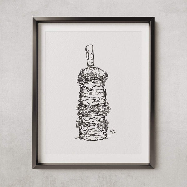 The ultimate works burger - PRINT