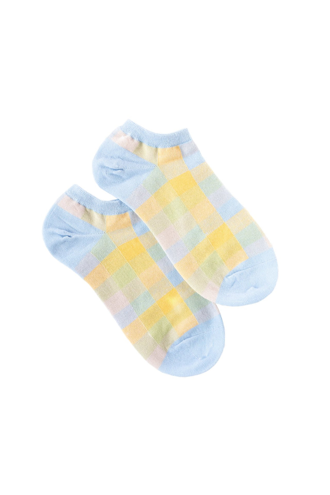 Summer Check Ankle Sock Blue
