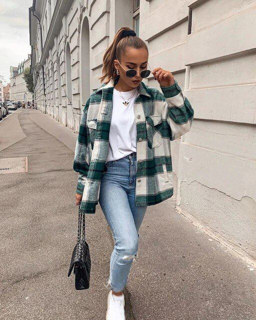 Vintage Oversized Plaid Jacket