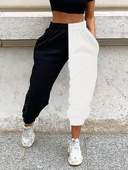 Patchwork Casual Pants