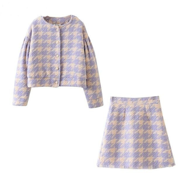 Legally Pastel Houndstooth 2 Piece Set