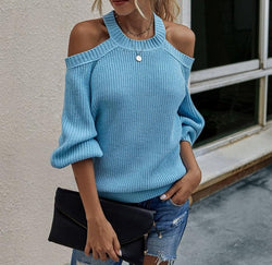 Shoulder Knitted Sweater Oversize