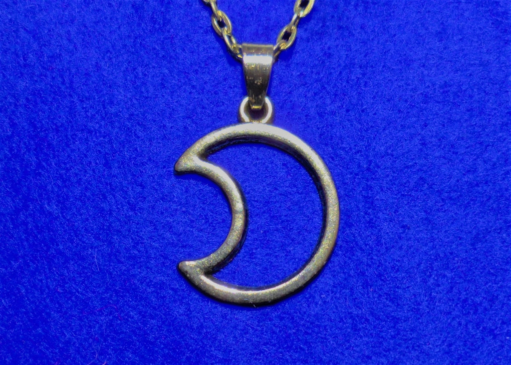 Hollow Moon Necklace - Tully Crafts