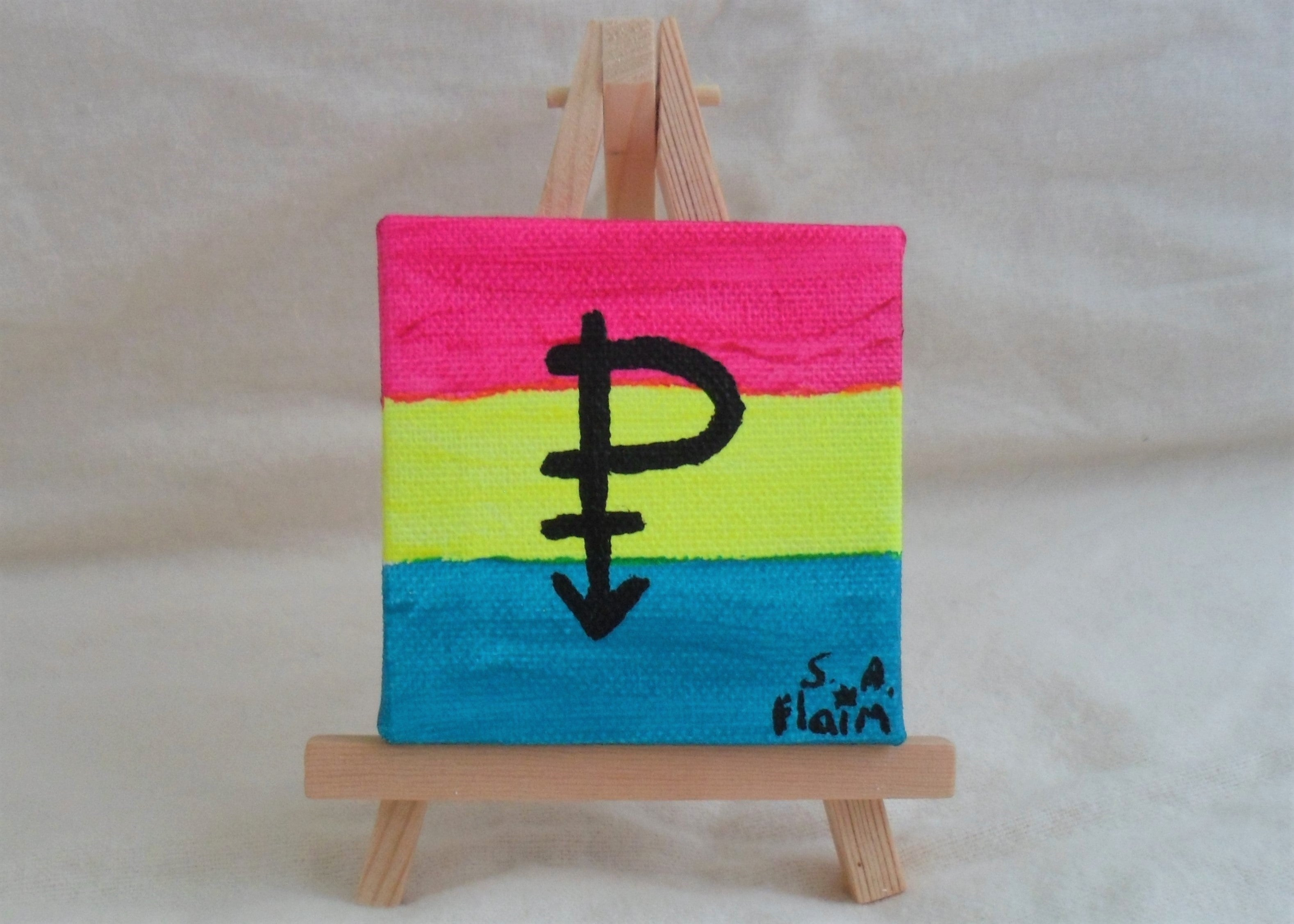 Pansexual Mini Easel Art by S.A.Flaim - Tully Crafts