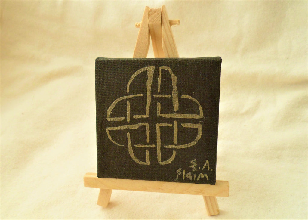 Celtic Knot Mini Easel Art by S.A.Flaim - Tully Crafts