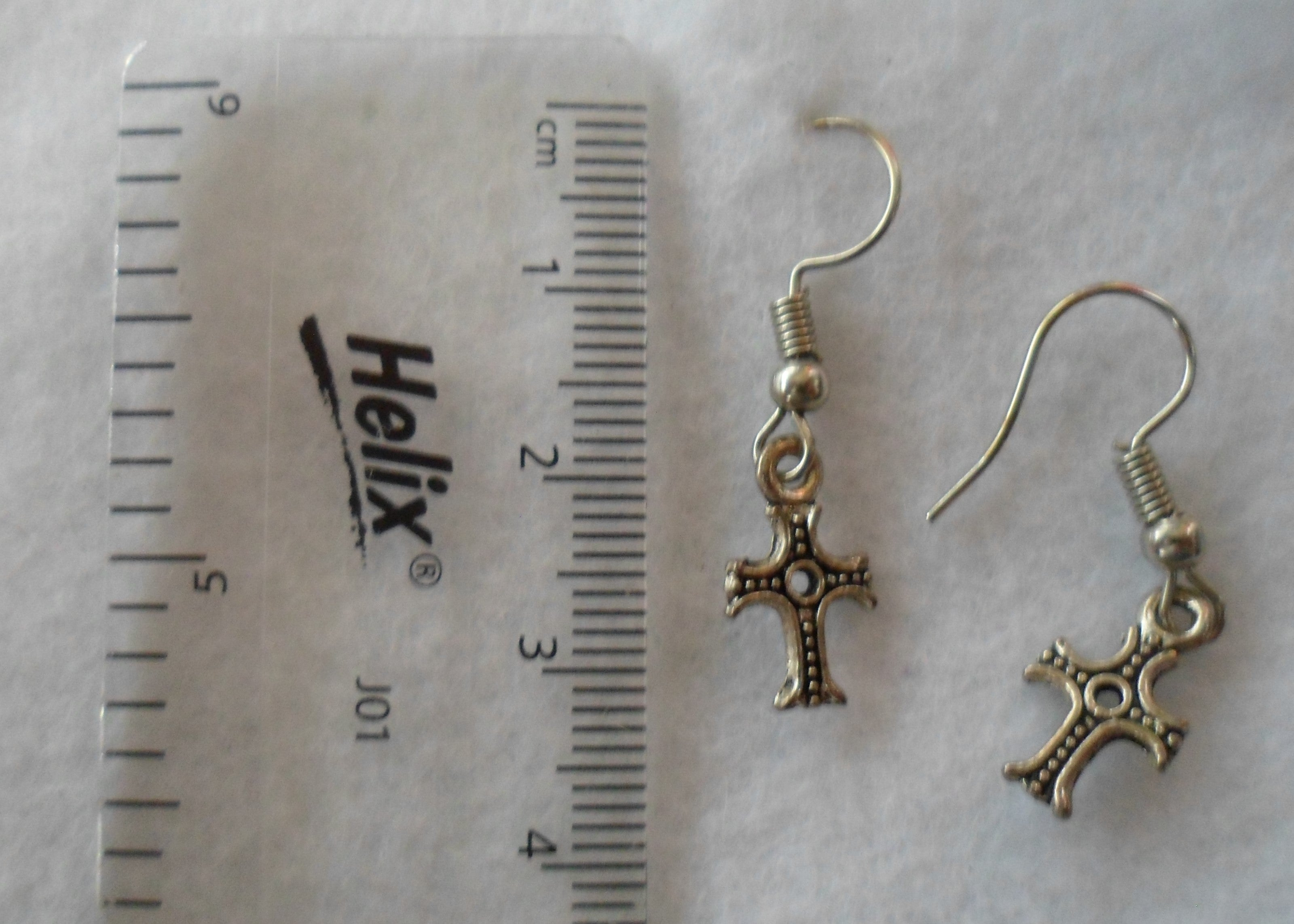 Small Detailed Cross Earrings - Tully Crafts