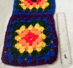 Load image into Gallery viewer, Rainbow Crochet Granny Square Scarf - Tully Crafts
