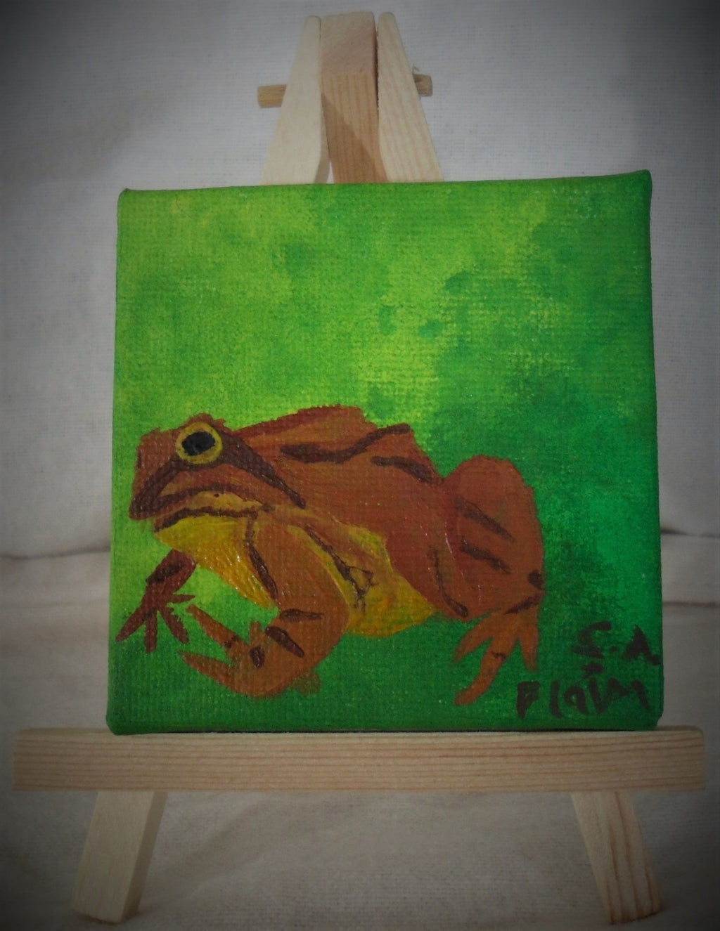 Hop Mini Easel Art by S.A.Flaim - Tully Crafts
