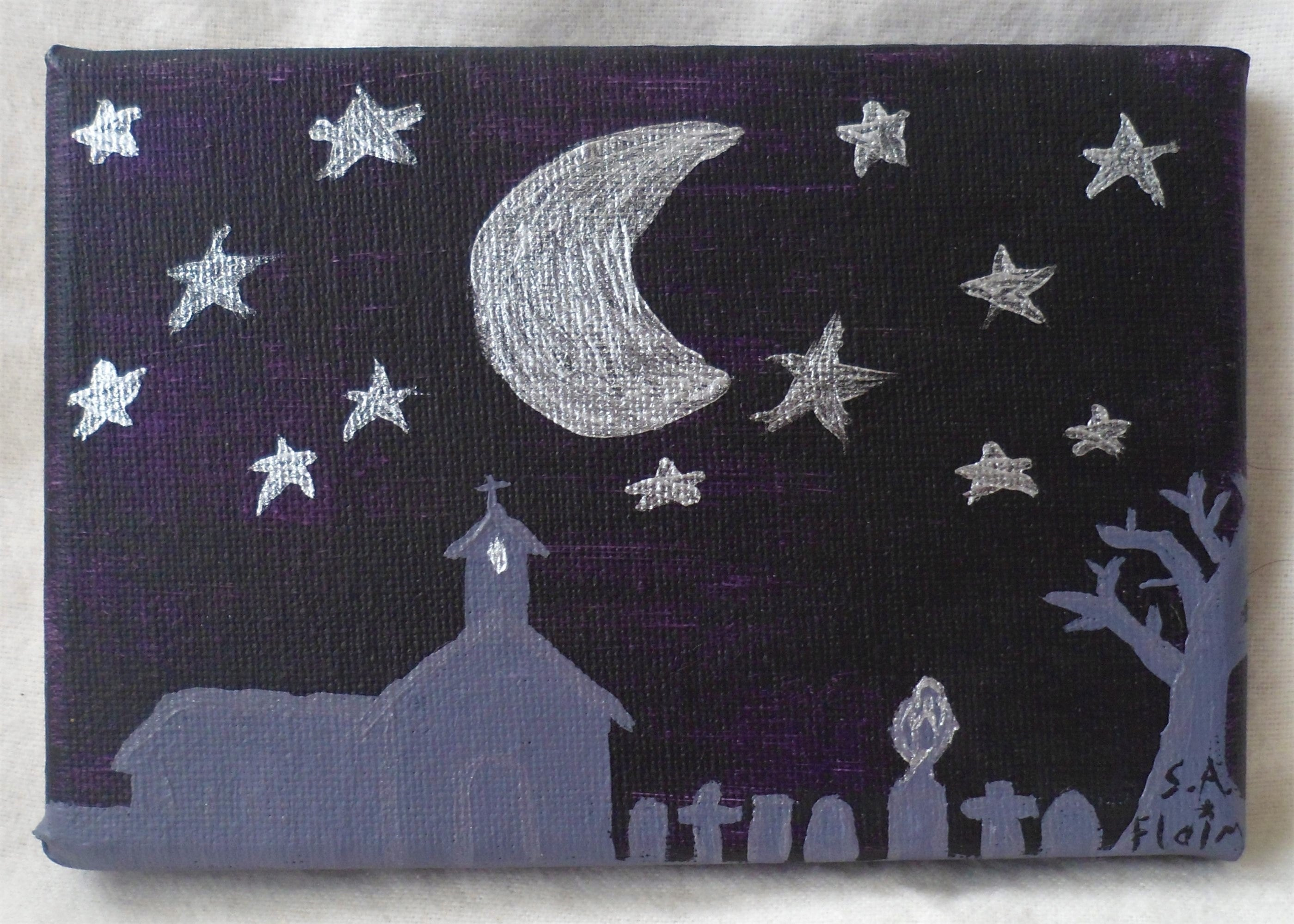 Church in Moonlight by S.A.Flaim - Tully Crafts