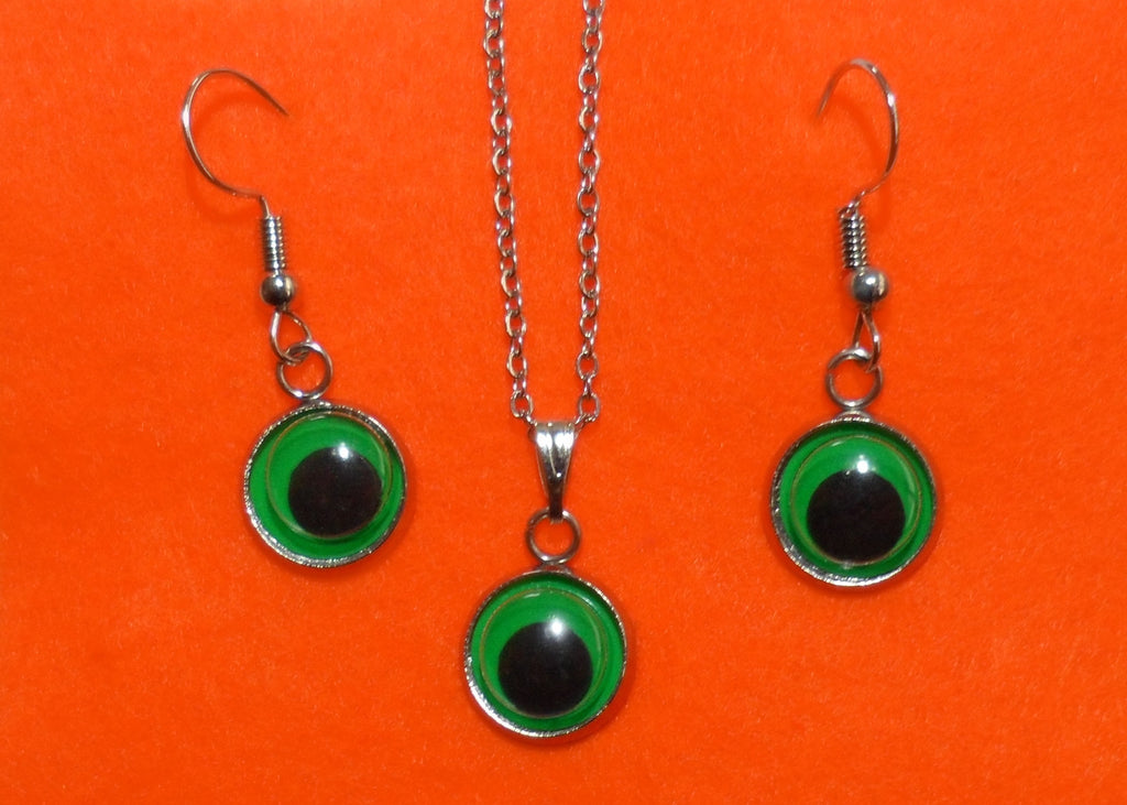 Green Googly Eyes Set - Tully Crafts