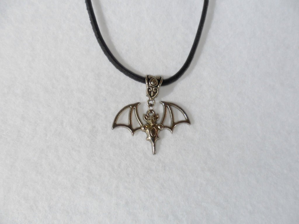 Bat Leather Thong Necklace - Tully Crafts