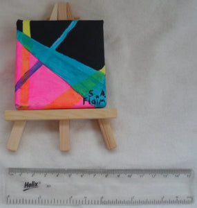 Bright Lights Mini Easel Art by S.A.Flaim - Tully Crafts