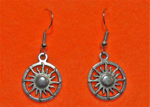 Sun in a Circle Earrings - Tully Crafts
