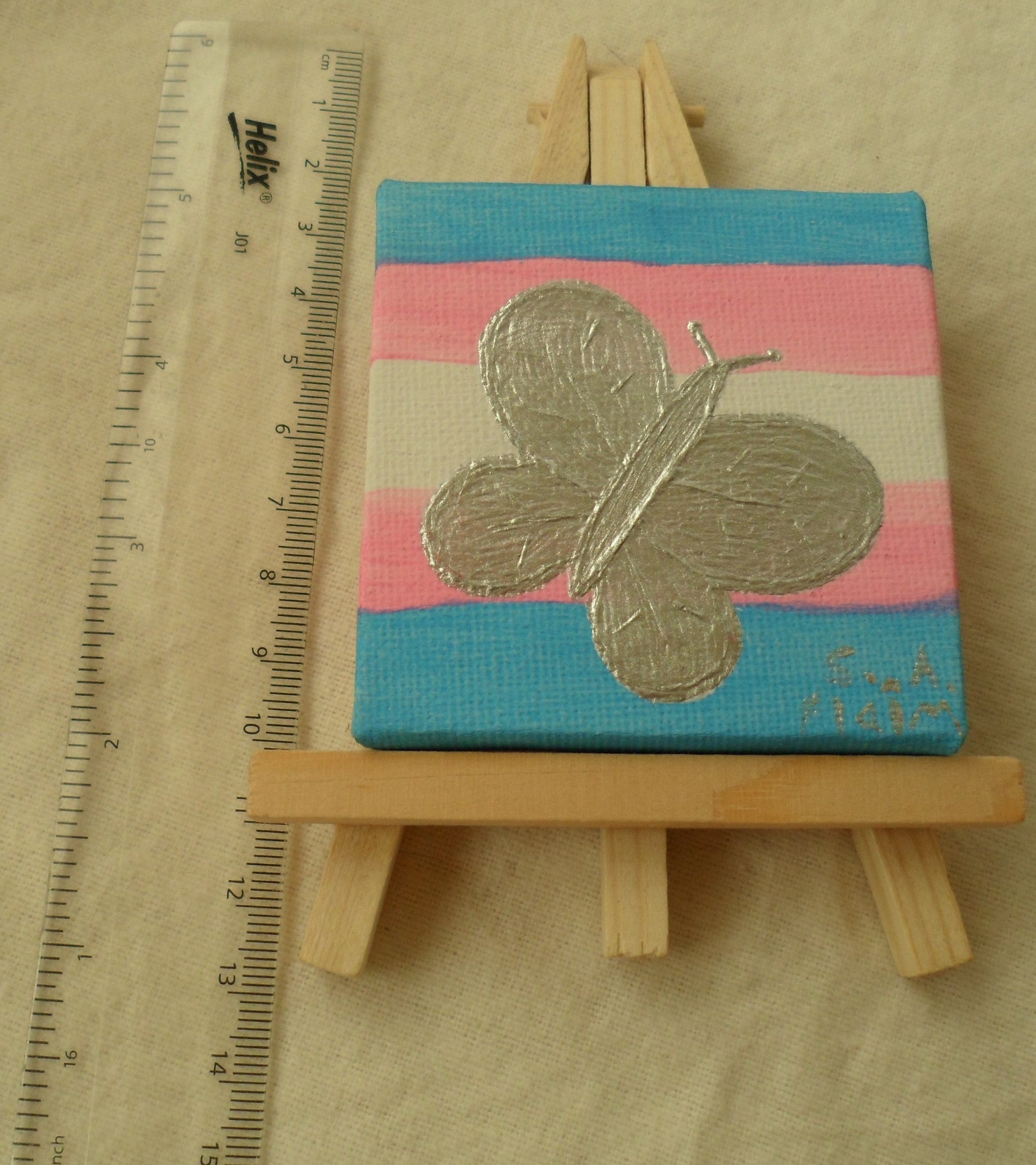 Trans Butterfly Mini Easel Art by S.A.Flaim - Tully Crafts