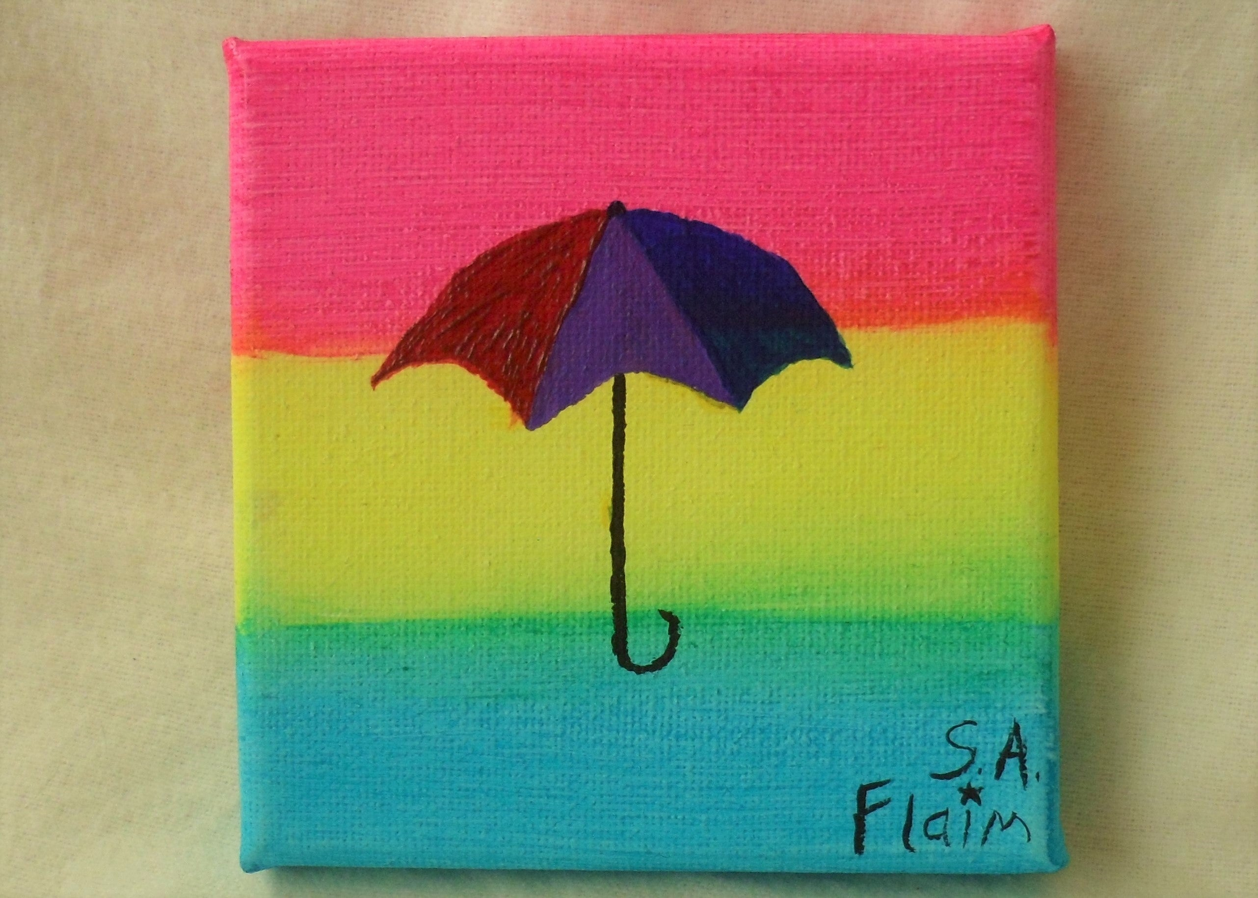 Bi Umbrella Mini Canvas by S.A.Flaim - Tully Crafts