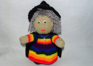 Large Rainbow Witch Mascot - Tully Crafts