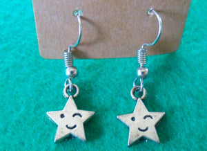 Winking Star Earrings - Tully Crafts
