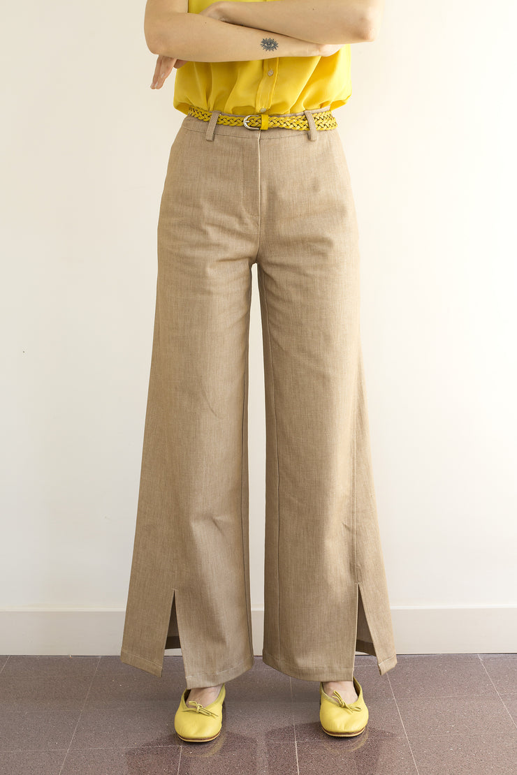 Azalea pantalon en denim fendu