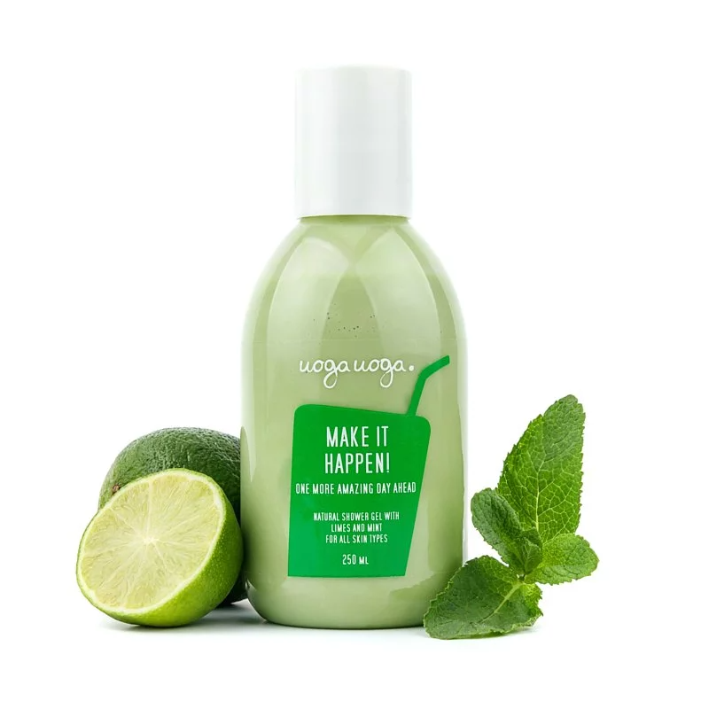 Uoga Uoga, Natural Shower Gel with Lime & Mint
