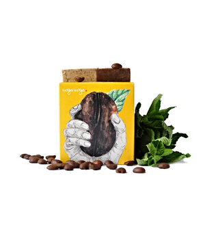Uoga Uoga, Natural Handmade Soap - mint oil and coffee