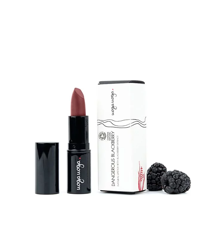Uoga Uoga, Natural Lipstick - Dangerous Blackberry (618)