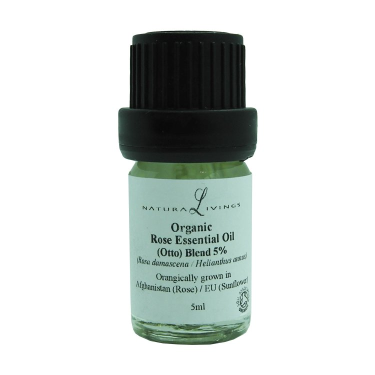 Organic Rose Essential Oil (Otto) Blend 5% (Rosa damascena / Helianthus annus)