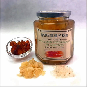 Honey Square, Snowy & Snow Lotus Peach Gum