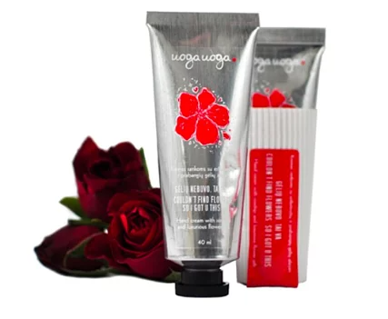 Uoga Uoga, Natural Hand Cream - with Rosehip & Natural Flower Oil