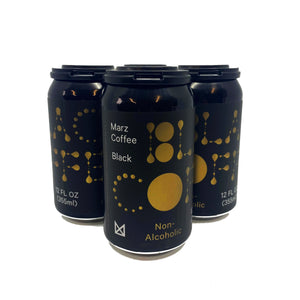 Marz Black Canned Coffee 4/pk