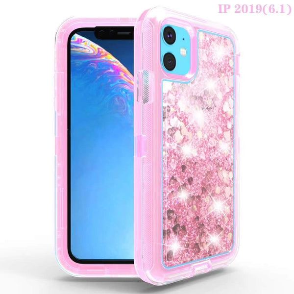 TRANSPARENT GLITTER PHONE CASE