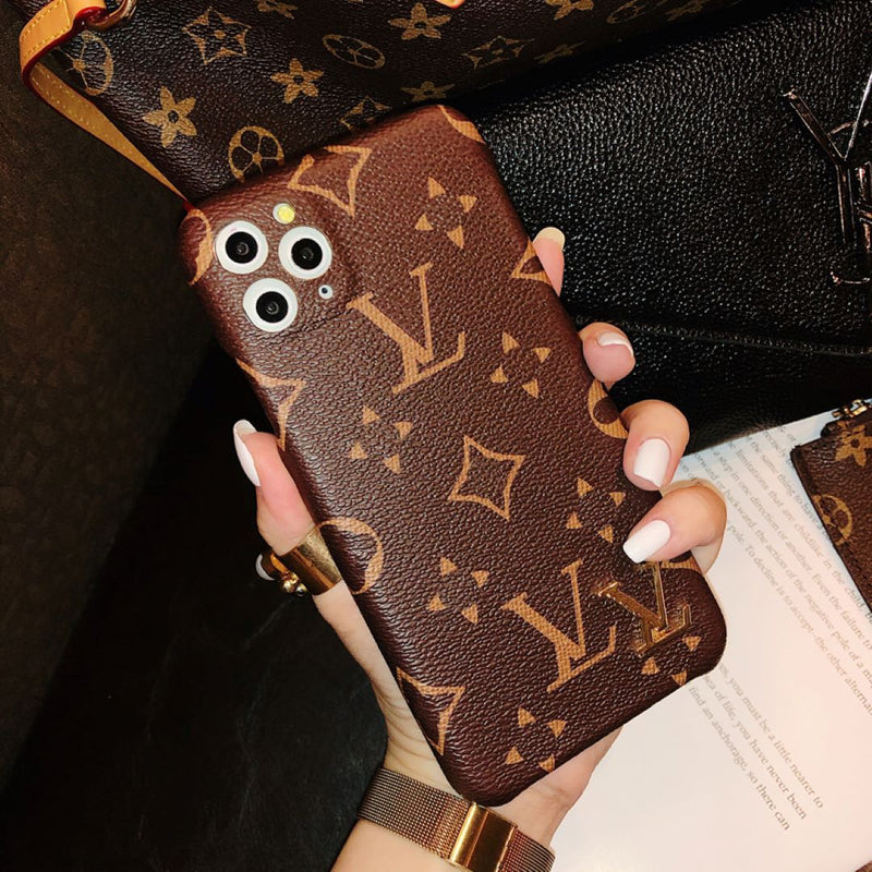 Fashion Leather Flower Pattern Phone Case