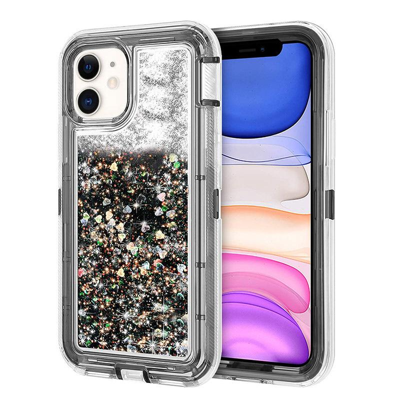 Liquid Quicksand Robot Three-in-one Phone Case