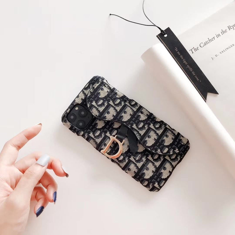 Embroidered D Letter Embroidery Phone Case