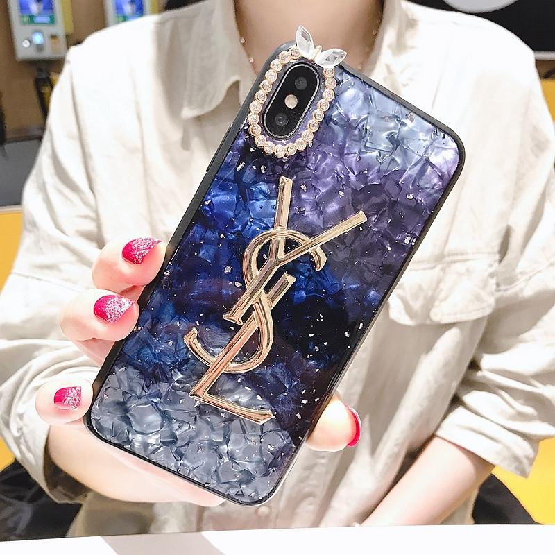 Luxury Rhinestone YSL Phone Case