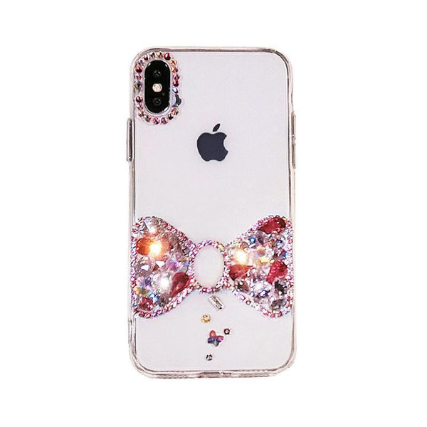 Bow-knot Rhinestones Case - jvcases
