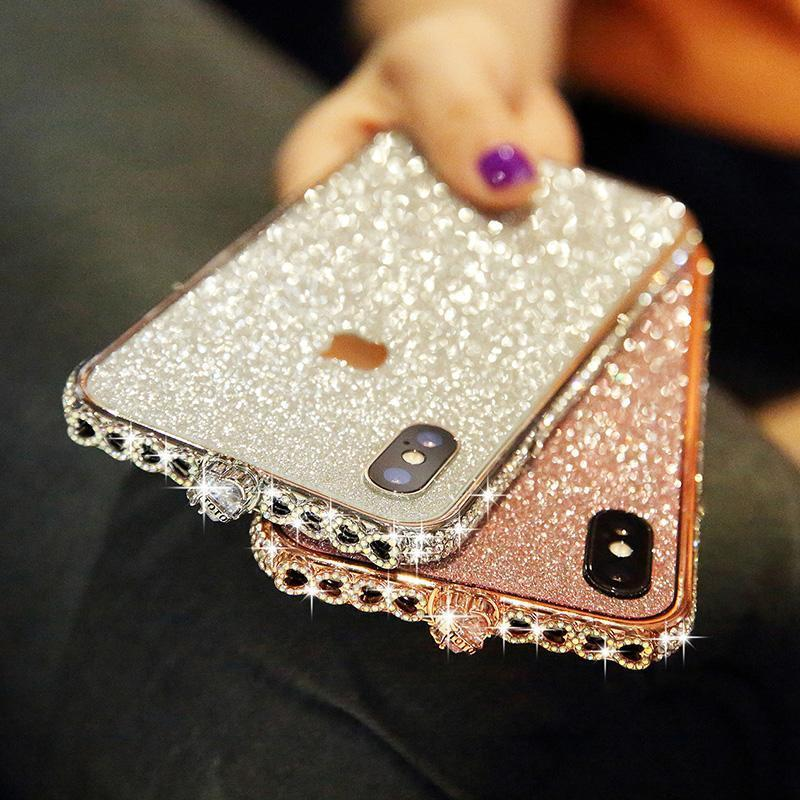 Bling Heart-Shaped Crystal iPhone Case With Grade A Aluminum Frame