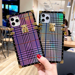 Fashion Colorful Houndstooth Phone Case