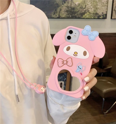 CUTE CARTOONS MIRROR PHONE CASE