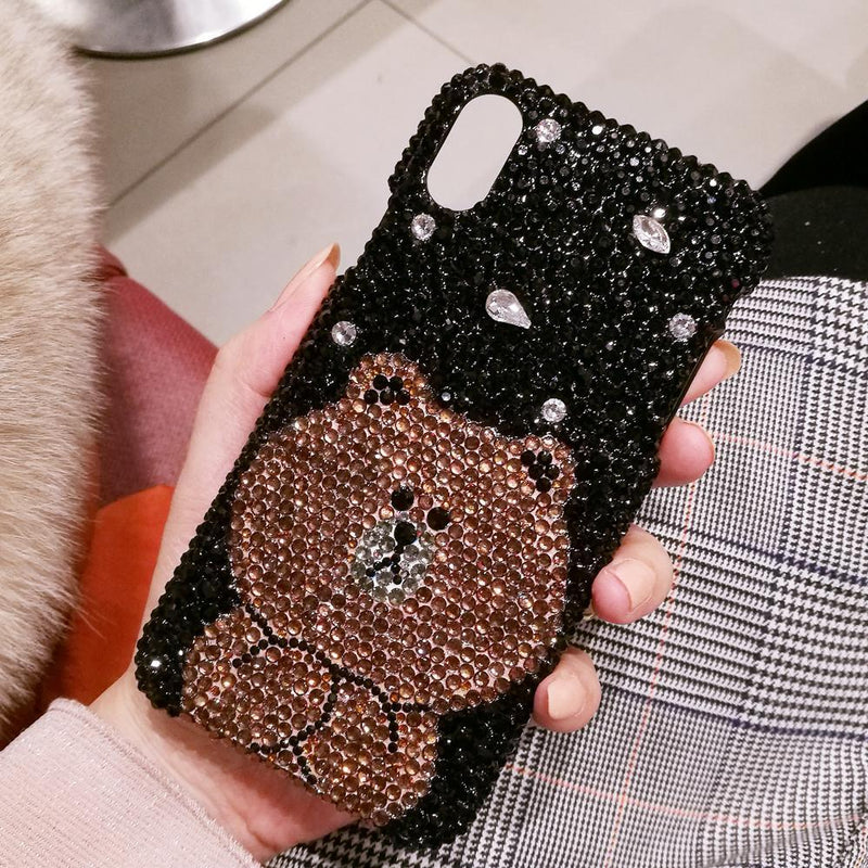 Luxury Cute Cartoon Bear Phone Case