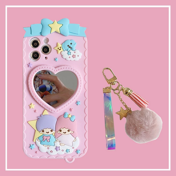 CUTE GEMINI SILICONE PHONE CASE