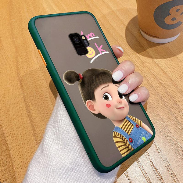 Happy Girl Fashion Frosted Phone Case
