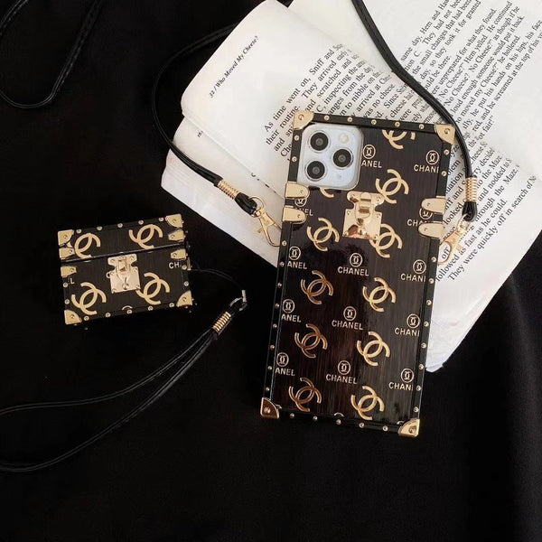 IPhone New Fashion Chanle Phone Case + Earphone Box