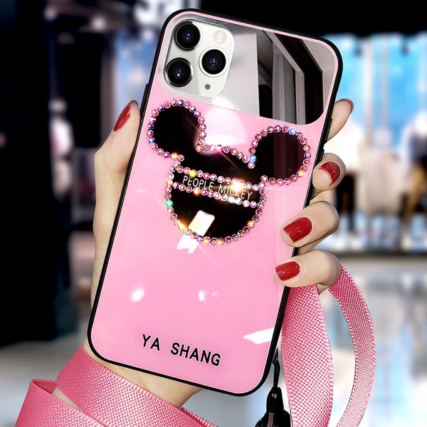 CUTE DIAMOND MIRROR PHONE CASE
