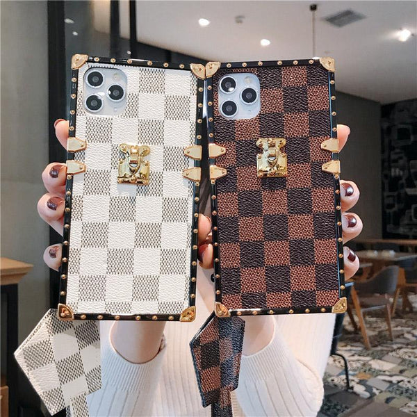 Fashion Square Leather Shockproof Case