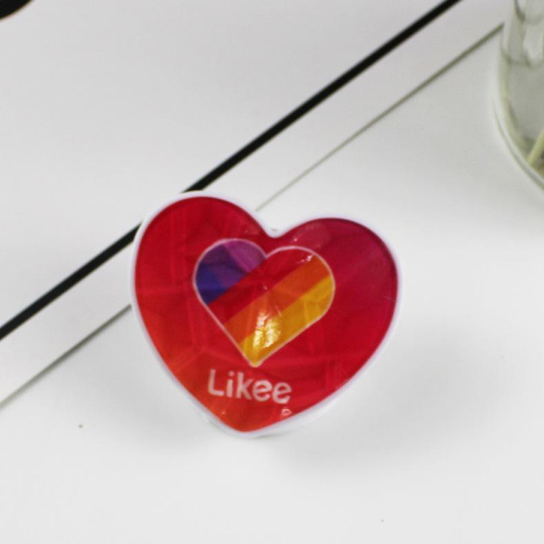 Heart-shaped Painted Mobile Phone Holder